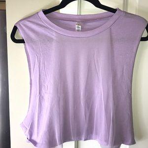 ALO Yoga Crop Top Muscle T-shirt Sz M